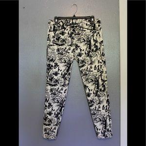 Zara Trafaluc Printed Skinny Pants 6
